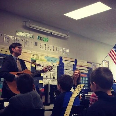 Dr. Horrell with LES Guitar Club